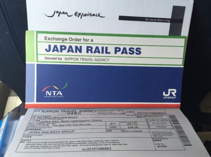 Fransa'dan Gelecek Olan Japan Rail Pass Bileti-Japonya
