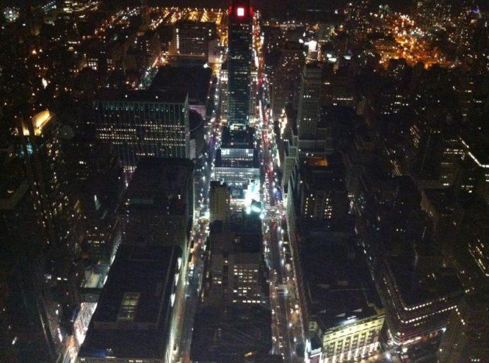 Empire State Binasından Gece New York Manzarası
