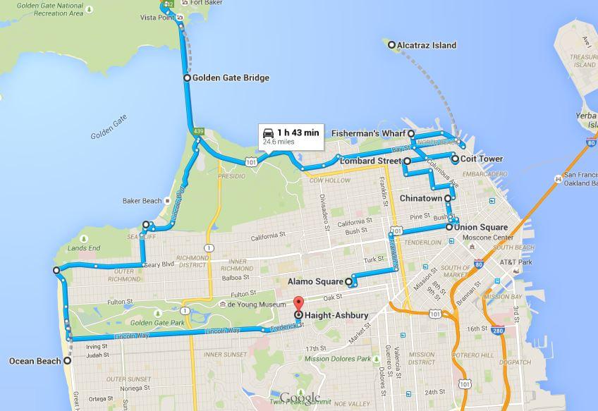 San Francisco'da Takip Edeceğiniz Rota