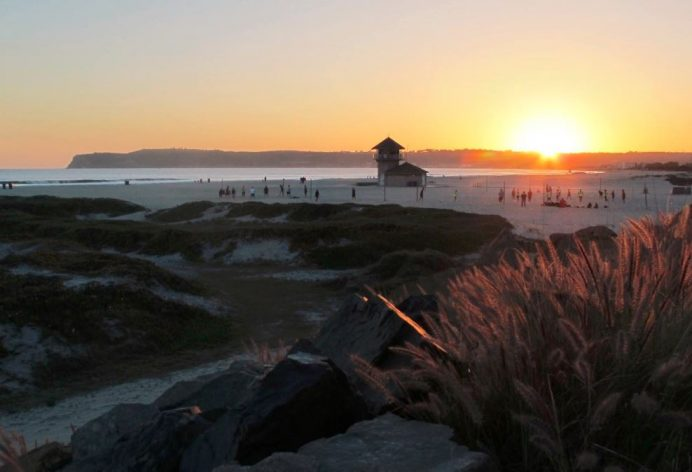 Pasifik Okyanusu Kıyılarında Gün Batımı-San Diego