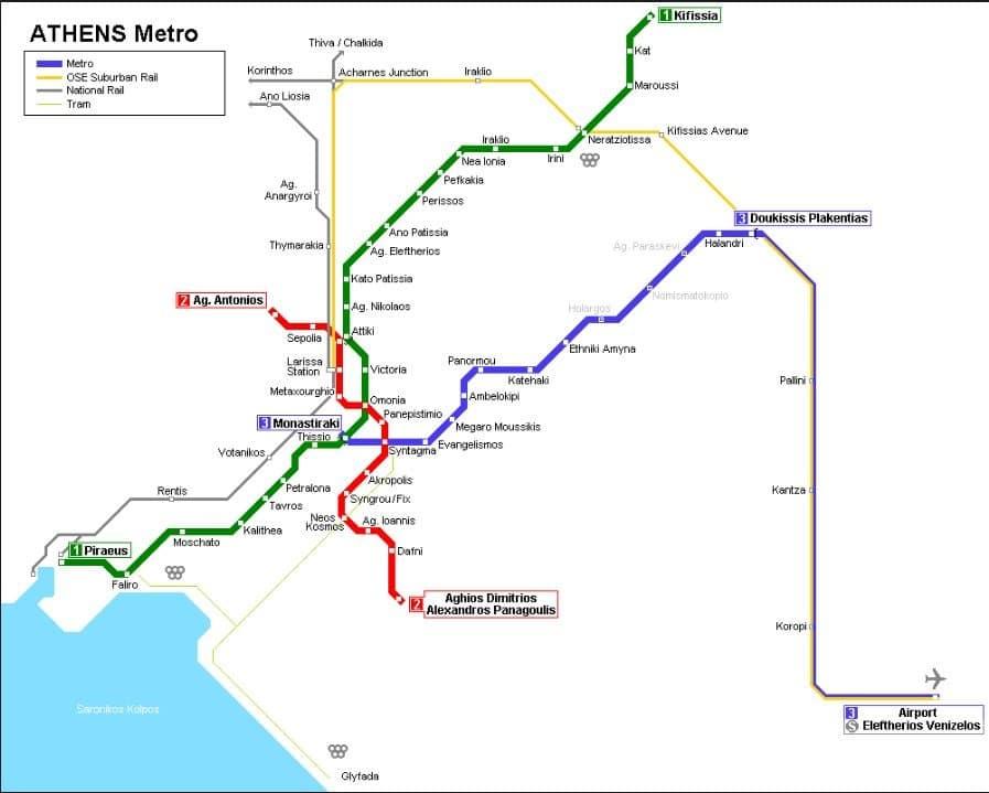 Atina_Metro_Hatları