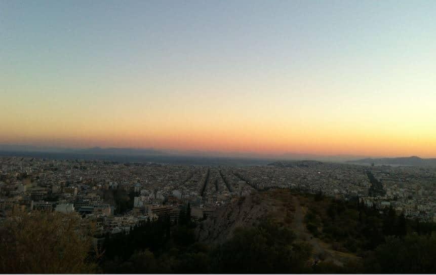 Akşamüzeri Atina Manzarası