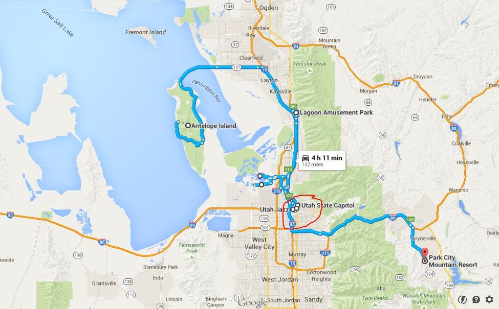 Salt Lake City Gezilecek Yerler-Kırmızı Çember Şehir Merkezi