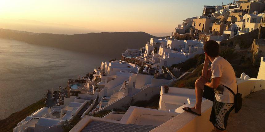 Santorini-Alşamüzeri Günbatımı