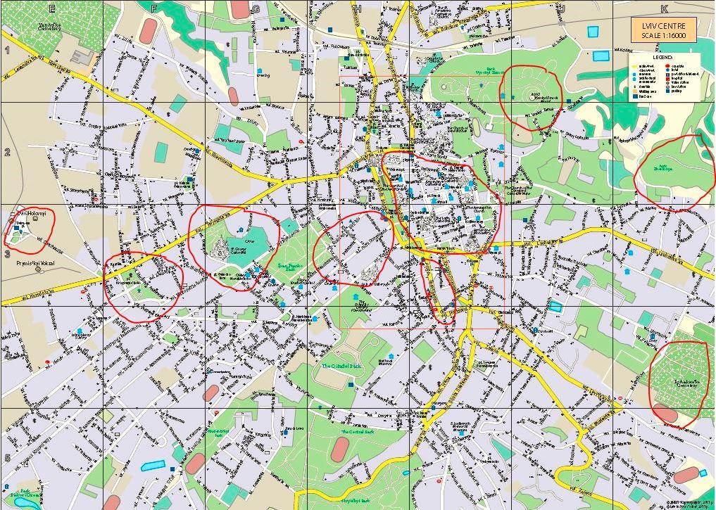 Lviv Şehir Haritası