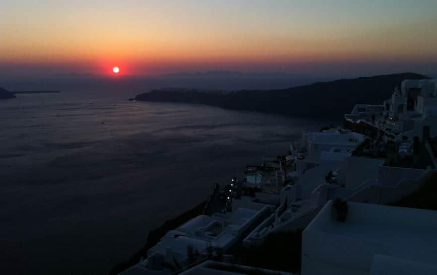 Santorini_Günbatımı