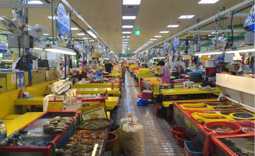 Busan-Jagalchi Balık Pazarı