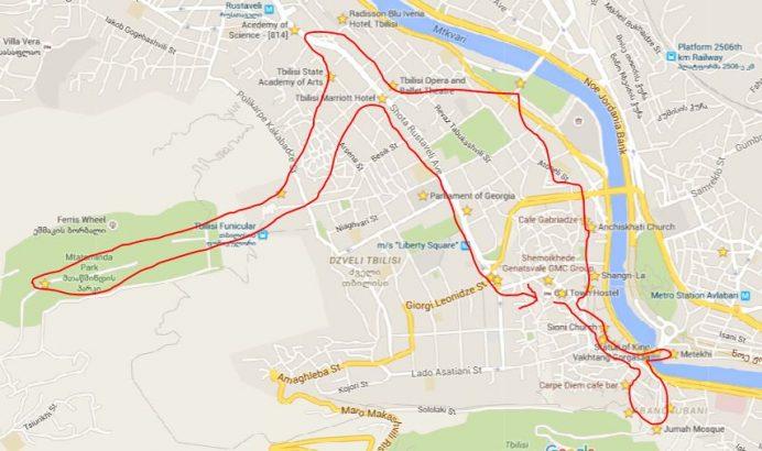 Tiflis-Gezilecek Yerlerin Rotaları