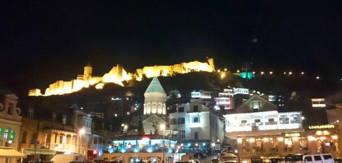 Gece Tiflis Manzarası