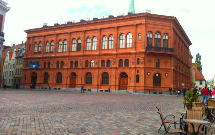 Riga Old Town Sokakları