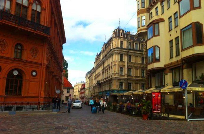 Riga Sokakları-Letonya