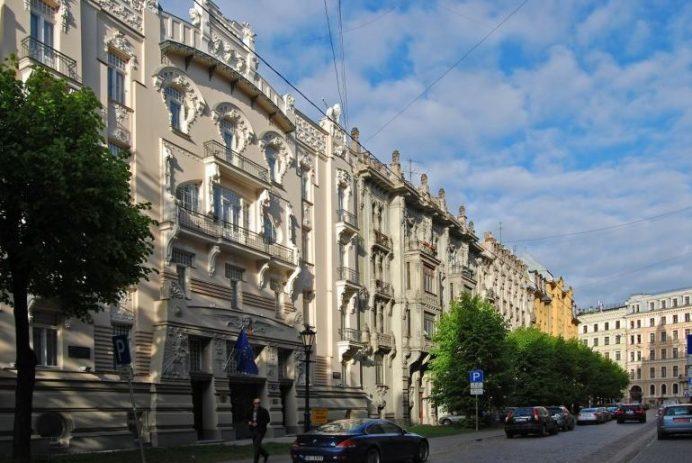 Alberta Jela (İela) Caddesi-Riga